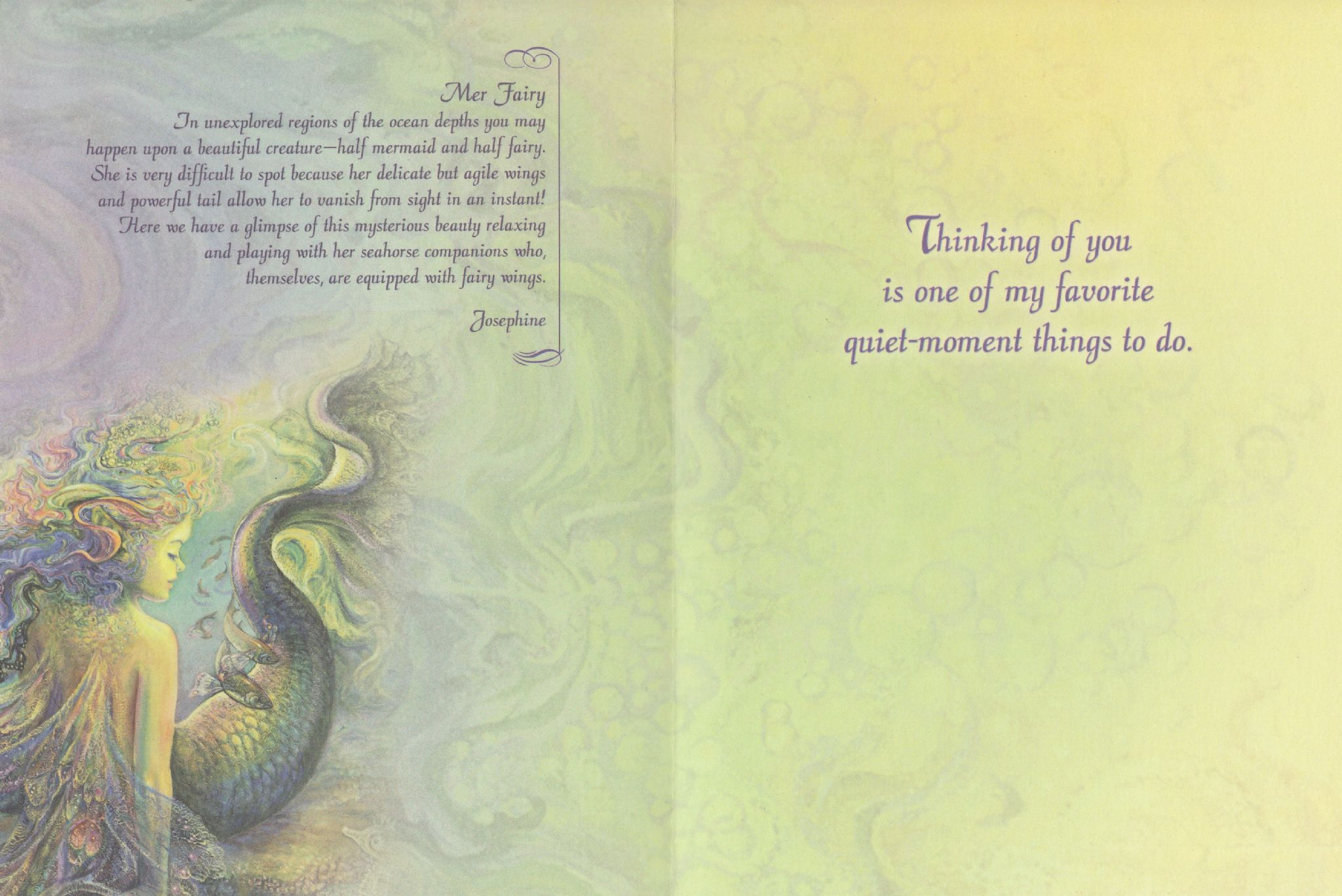 Thinking Of You Card Mer Fairy Thinking Of You Greetings Card By